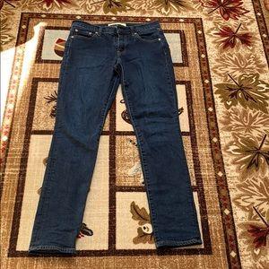 Gap 26L dark wash blue jeans